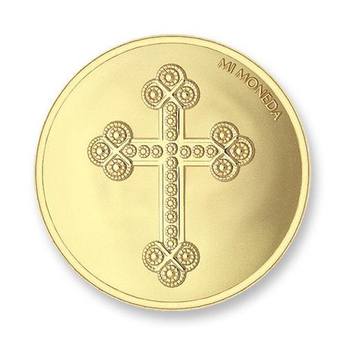 Cross & Rosary Gold