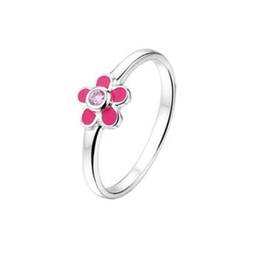 Zilveren Bloem Ring